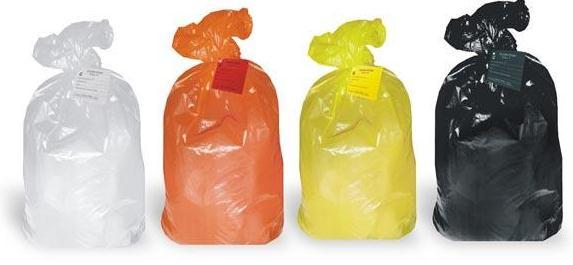 Пакеты, мешки, баки, емкости для сбора и утилизации, Пакет для сбора и хранения отходов желтого цвета  класс Б, 300х600, Пакеты для сбора и утилизации медицинских отходов в Алматы