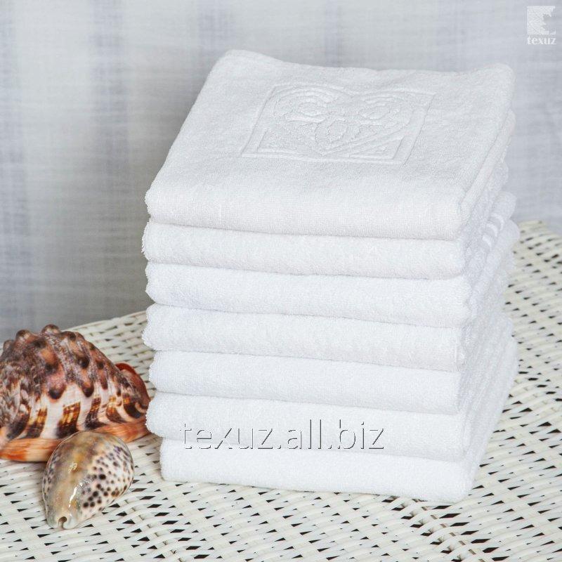 Полотенце махровое белое для лица 50*90см 100% хлопок