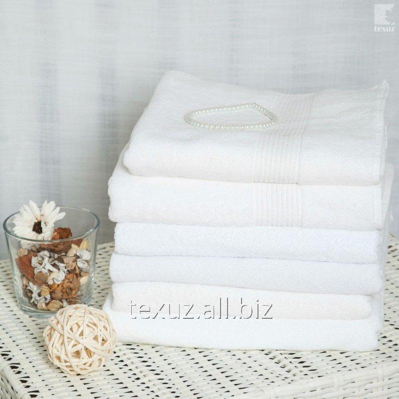 Полотенце махровое белое банное 90*150см 100% хлопок