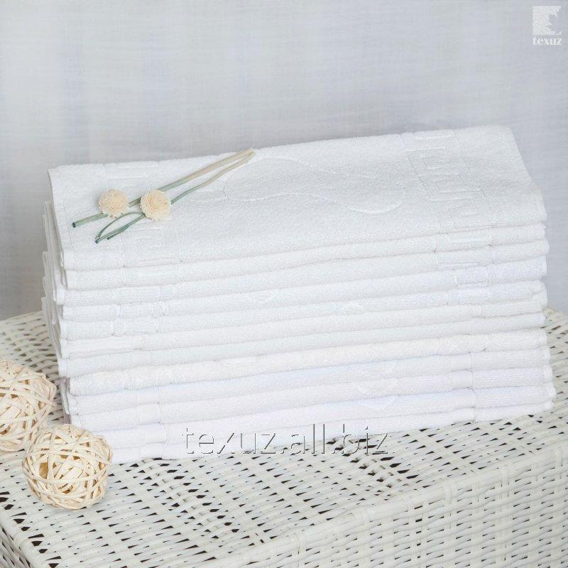 Купить Полотенце махровое белое для ног 50х70см 100% хлопок
