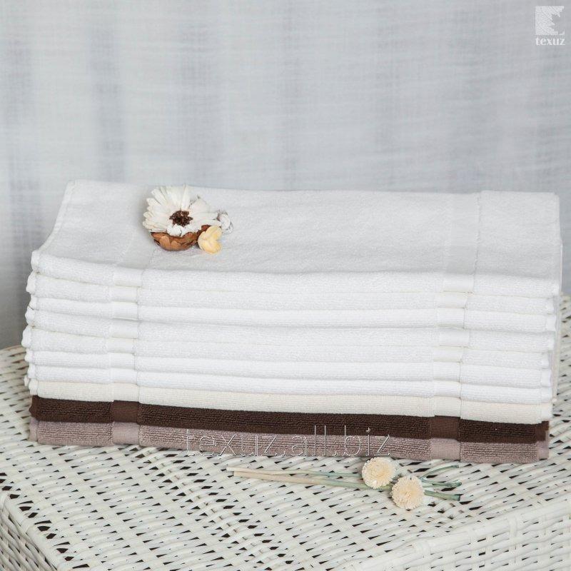 Полотенце для ног белое 50х70см 100% хлопок