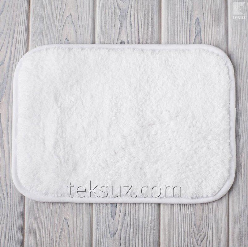 Коврики для ванной белые махровые хлопок размер 50х70см вес 2200гр/м2