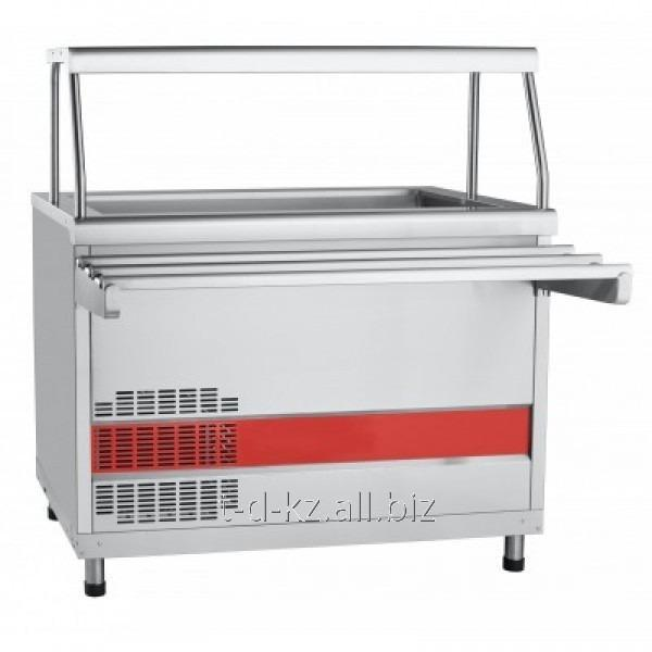 Купить Прилавок холодильный ПВВ(Н)-70КМ-02-НШ вся нерж. с ванной, нейтральный шкаф (1120мм)