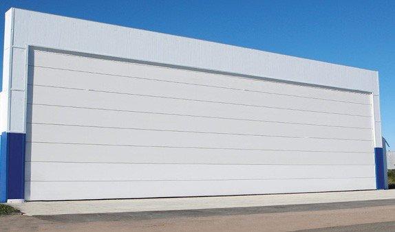 Купить Ангарные ворота шторного типа моносекционные