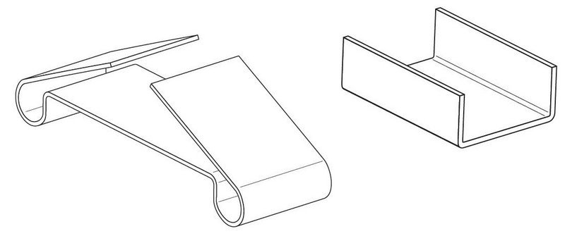 Зажим крепежный БРН.2-100 Ц (упак. 30шт.)