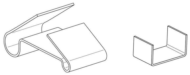 Зажим крепежный БРН/Т.1-25 Ц (упак. 50шт.)