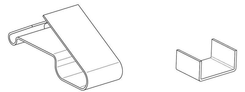 Зажим крепежный СР/Т.1-25 Ц (упак. 50шт.)