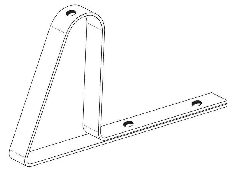Кронштейн для крепления к трубе снегозадержания ТС.10.005 Ц