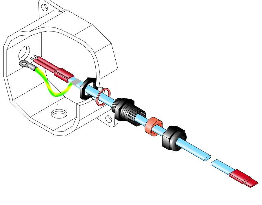 Комплект заделки UTK144 для FSM-CT/CF, FSLe-CT/CF, Gte, FLV