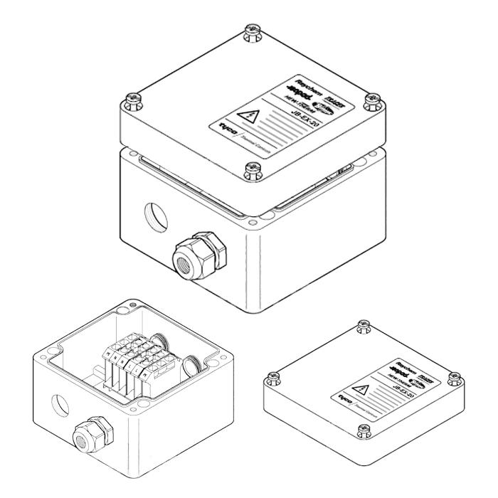 Cоединительная коробка (4xM25) JB-EX-25 (EE x e)