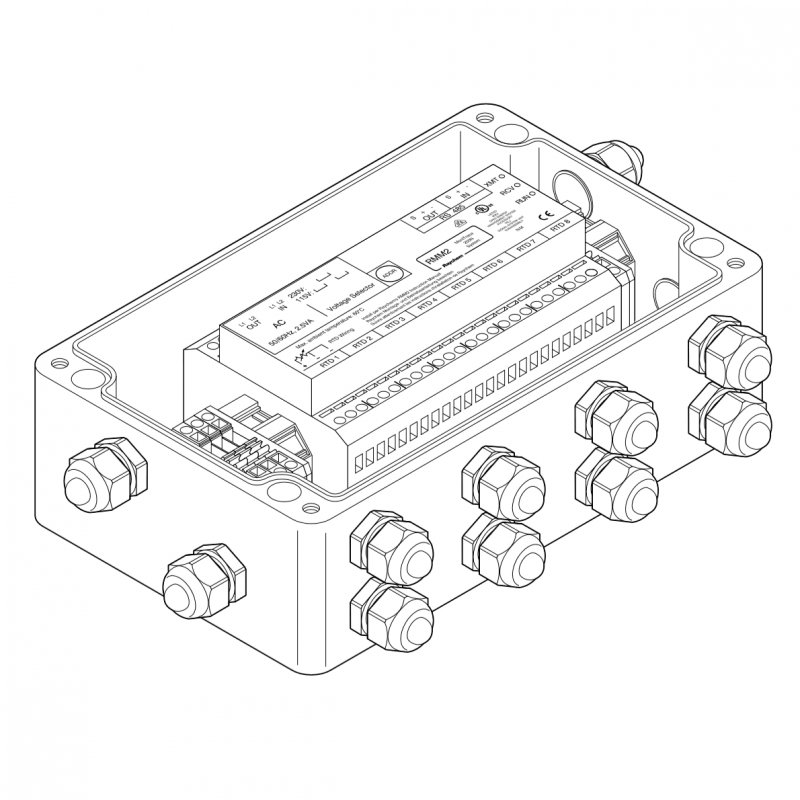 Блок удаленного измерения температур (IP66) MONI-RMM2-E