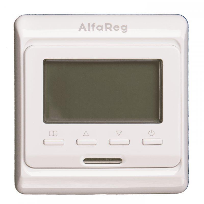 Терморегулятор AlfaReg E-51.716, программируемый со встроенным и выносным датчиком, (16A)