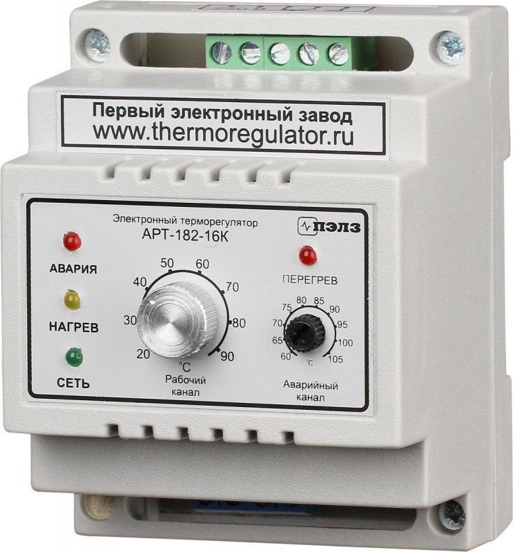 Купить Терморегулятор АРТ-182-16 с датчиками KTY-81-110 3 кВт DIN