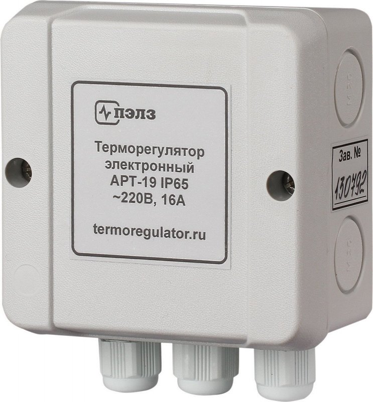 Терморегулятор АРТ-19 IP65 с датчиком KTY-81-110 2 кВт