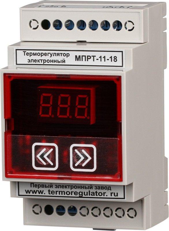 Терморегулятор МПРТ-11-18 1 кВт с датчиками KTY-81-110 цифровое управление DIN