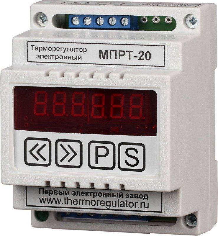 Терморегулятор МПРТ-20 с датчиками KTY-81-110 цифровое управление DIN
