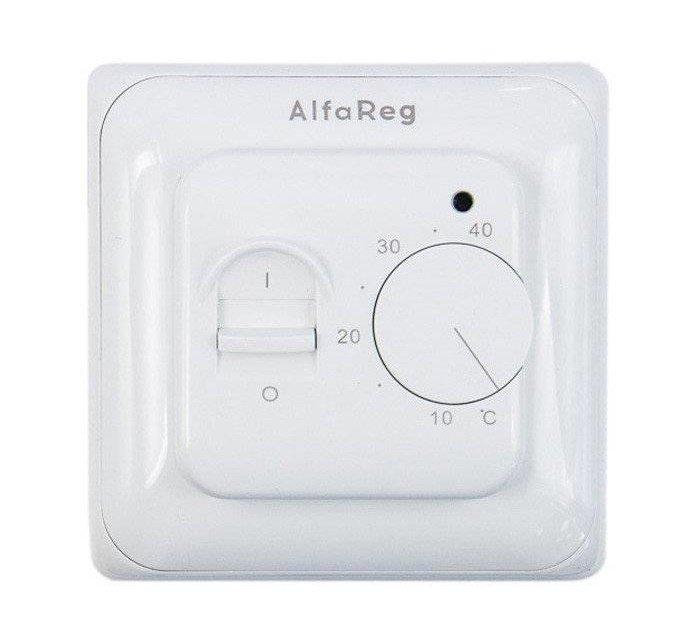 Купить Терморегулятор AlfaReg RTC-70.26, механический с датчиком пола, (16A)