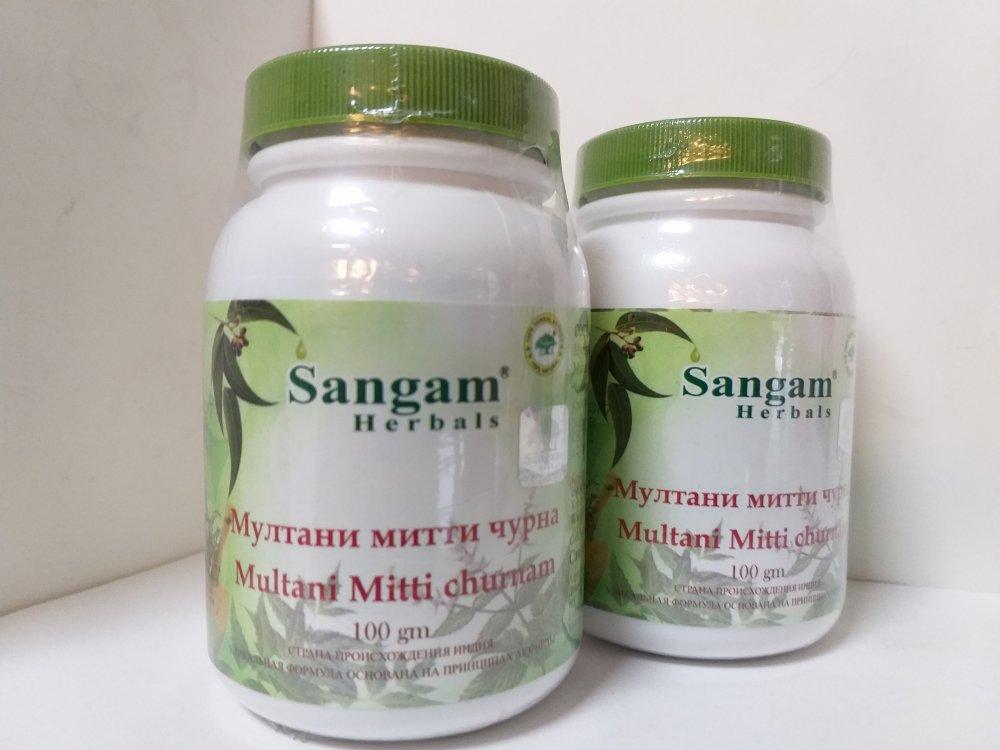 Порошок Мултани Митти, Сангам, Multani Mitti Churna, Sangam Herbals, 100 гр