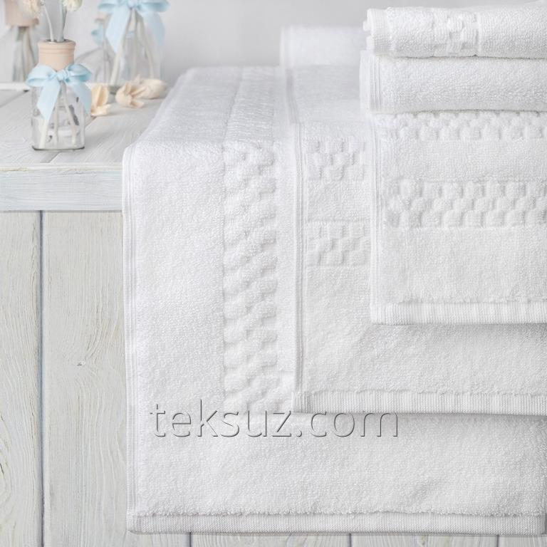 Люксовые полотенца для ног 50х70см с орнаментом Checkerboard
