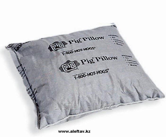 Купить PIL201 PIG® Абсорбирующая подушка, Впитывает масла, охлаждающие жидкости, растворители, воду