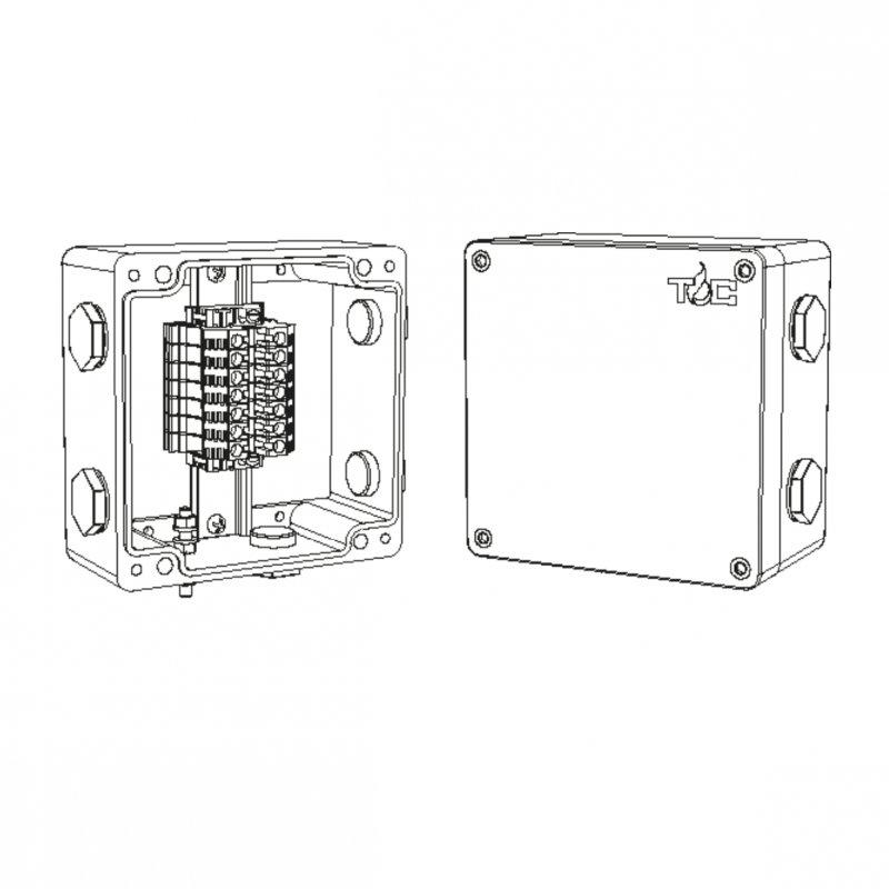 Коробка соединительная TS-M10 для подвода питания к саморегулирующимся нагревательным кабелям