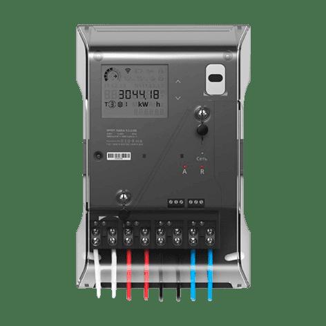 Cчетчик электрической энергии трехфазный сплит VIKING-301 S 230В 5(100) А IOLS-С наружной установки