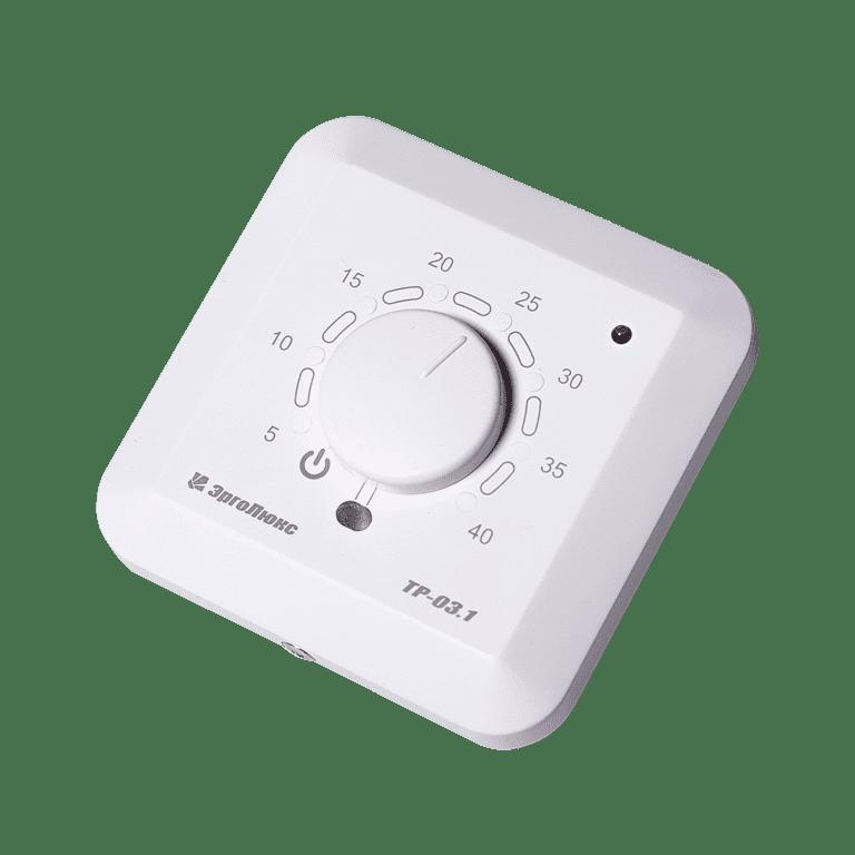 Встраиваемый терморегулятор ТР-03.1ВП с датчиками пола и воздуха