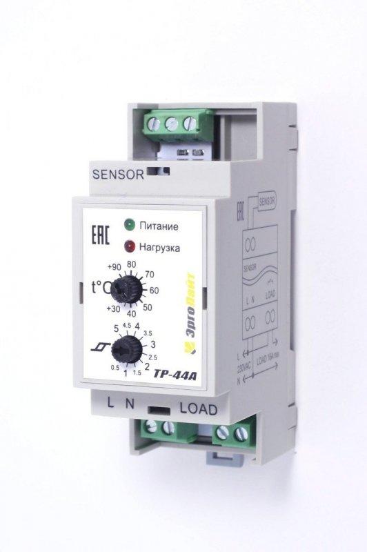 Купить Терморегулятор ТР-44А (+30°С …+90°С, гист. 0,5…5°С) c датчиком DS-125MV