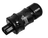 Ex Розеточный разъем для установки на кабель, черный