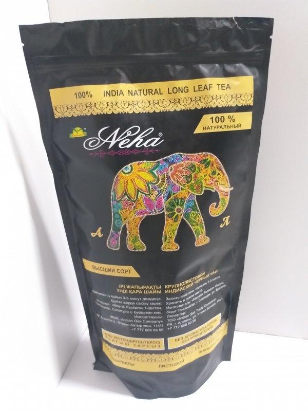 Крупнолистовой индийский черный чай Neha Premium, 500 гр