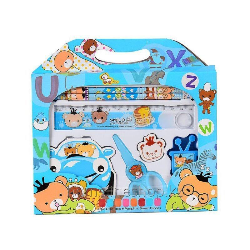 Детский подарочный набор канцелярских принадлежностей 7 предметов