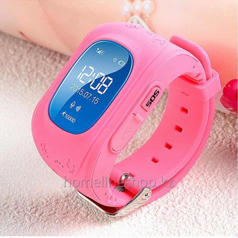 Детские смарт-часы Q50 с GPS цвет розовый