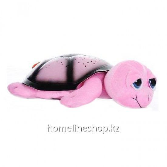 Ночник - проектор черепаха (розовый)
