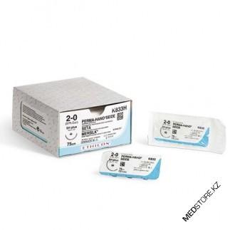 Купить Шелк хирургический М3.0 (2/0) 17 отрезков по 45cm без иглы, W203