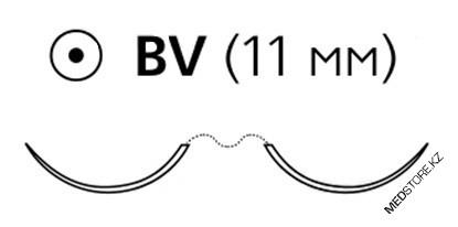 Купить ПДС фиолетовый 07 (6/0) 45 мм на двух колющих иглах BV, z1032h