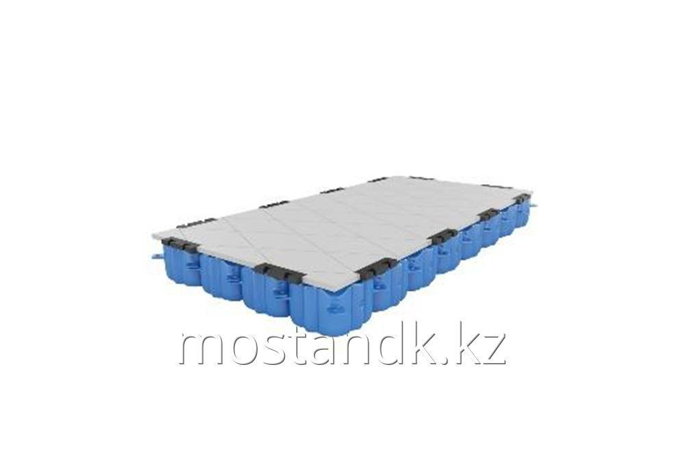 Комплект однослойного полимерного модульного понтона с износостойким покрытием