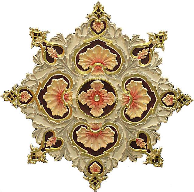 Декор под люстру из гипса