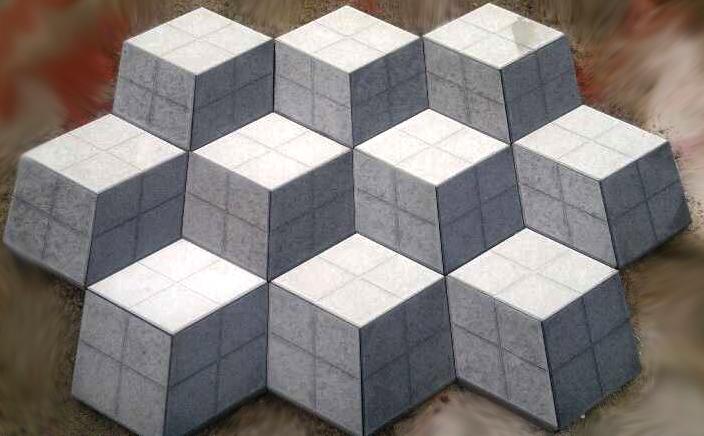 Buy Stone blocks 3D Rhombus No. 11