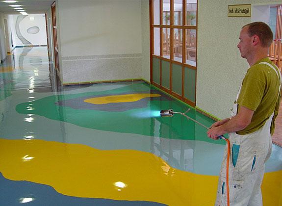 Наливные полы зd в казахстане техника нанесения шпатлевки короед