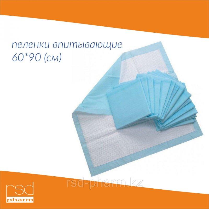 Пеленка впитывающая одноразовая, 60*90 см ЭКОНОМ