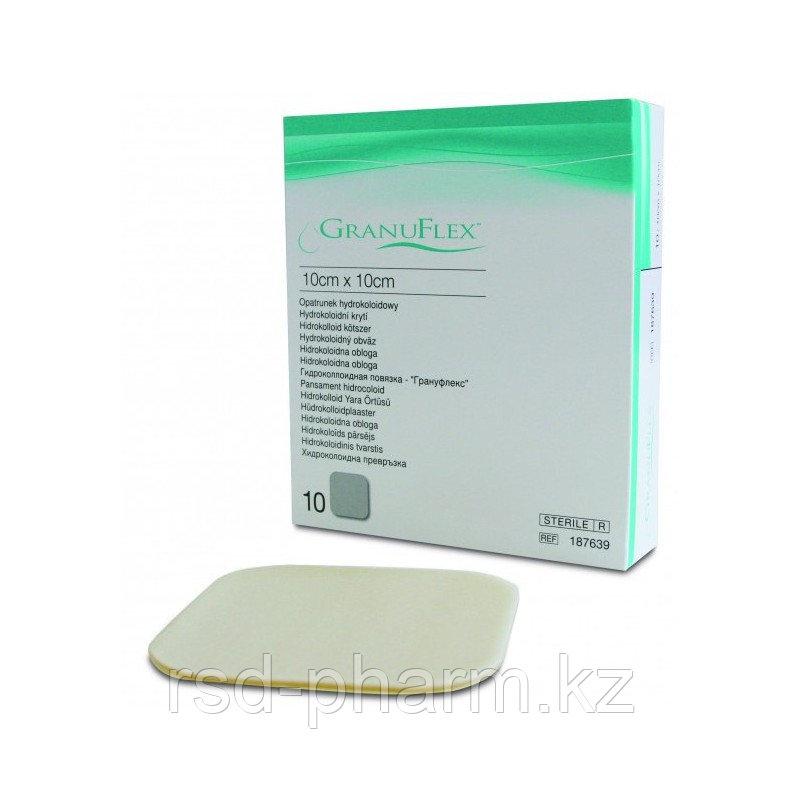 Пластыри для лечения пролежней Грануфлекс Granuflex 10х10 см (10 шт в уп)