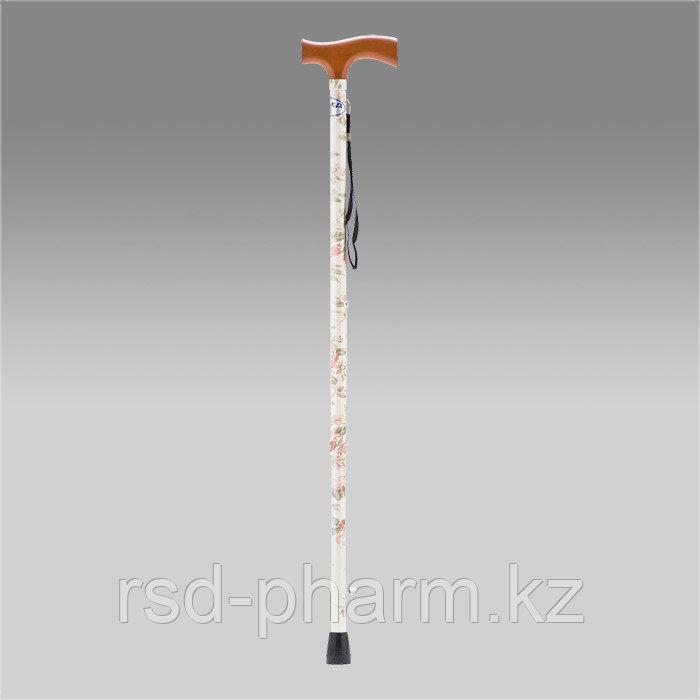 Трость armed yu821 (9) (белая с цветами)
