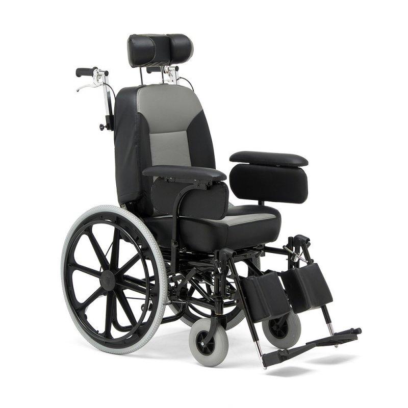 """Комфортабельная коляска для инвалидов с высокой спинкой повышенной грузоподъемности """"Armed"""" FS204BJQ"""