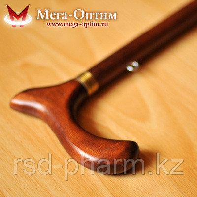 Телескопическая трость с деревянной ручкой