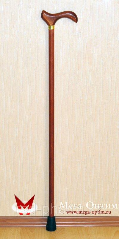 Деревянная трость с деревянной ручкой и УПС (75, 80, 85, 90, 95 см)
