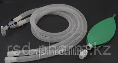 Контур дыхательный анестезиологический (гофрированный) Plasti-med, педиатрический, резервный мешок