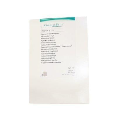 Гидроколлоидное раневое покрытие Грануфлекс (Granuflex) 20х30 см