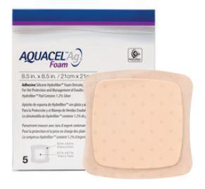 Аквасель Фоум с серебром с силиконовым адгезивом (Aquacel Foam Ag, adh) 21 х21 см