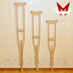Костыли подмышечные деревянные с мягкими подмышечниками и УПС Штырь Взрослые (134-156)