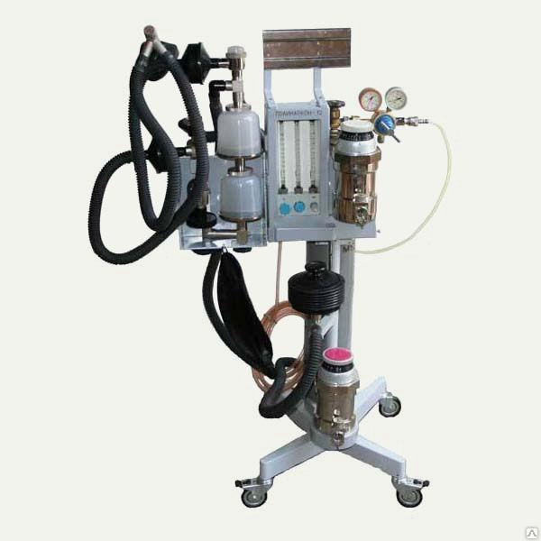 Аппарат для ингаляционного наркоза Полинаркон -12 с приставкой ИВЛ ЭМО-200